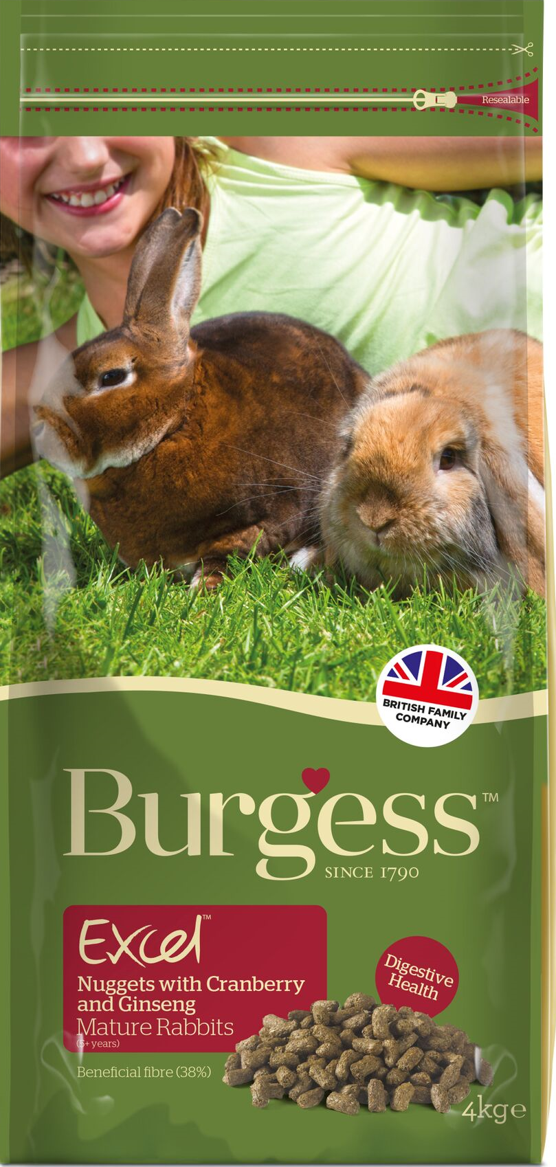 Burgess Excel Mature Rabbit with Cranberry & Ginseng