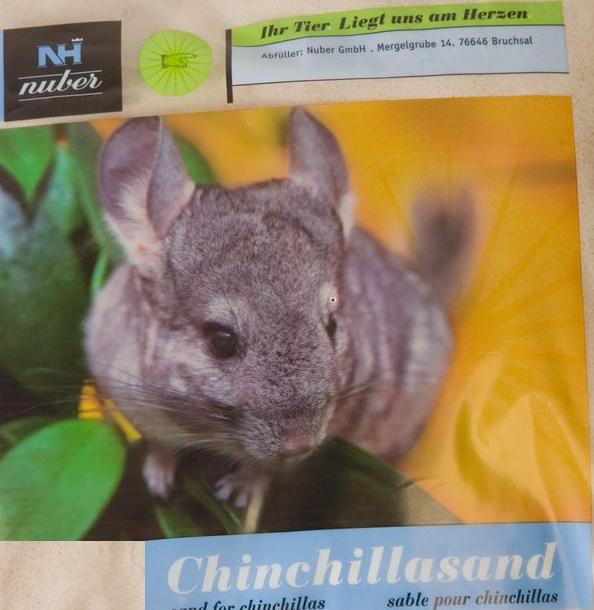 Arena chinchilla y otros roedores
